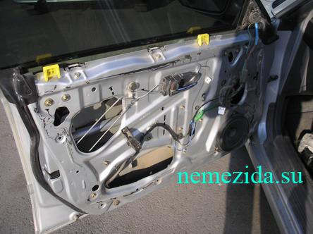 Дверь машины чистая