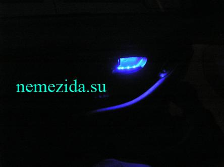 Подсветка дверных ручек машины 6