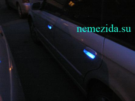 Подсветка дверных ручек автомобиля 7