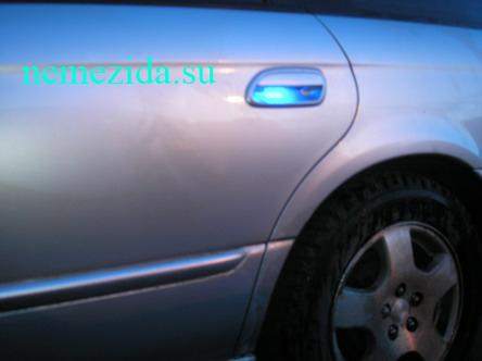 Подсветка дверных ручек машины 2