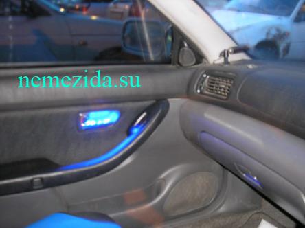 Подсветка дверных ручек машины своими руками 3