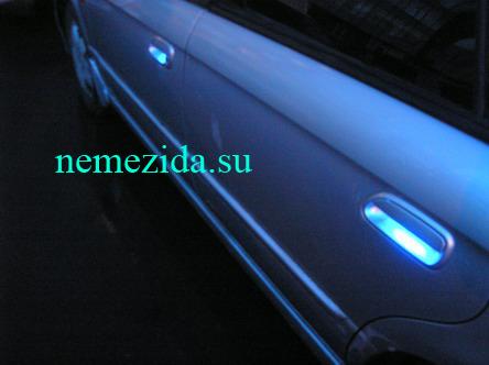 Подсветка дверных ручек машины 4