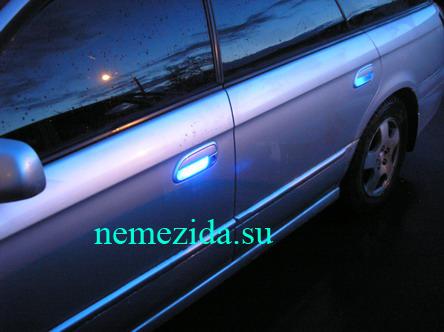 Подсветка дверных ручек машины 5